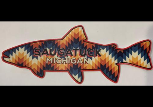Steamboat Sticker Steamboat Sticker Saugatuck Trout