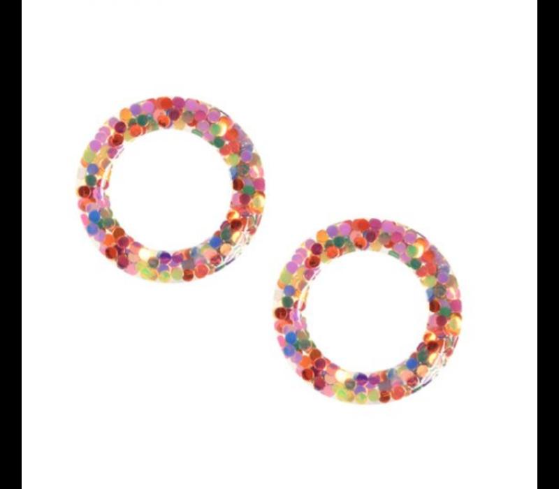 Joy Susan Pink Confetti Post Earrings