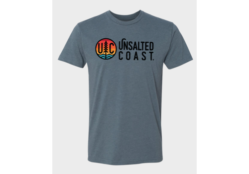 Unsalted Coast Unsalted Coast S/S Tee w/ Horizontal Multi Color Logo