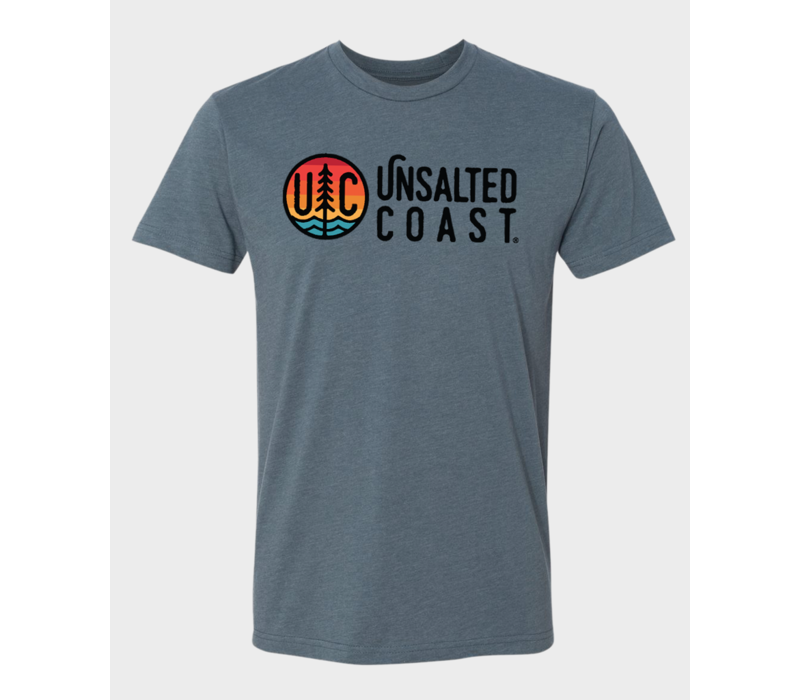 Unsalted Coast S/S Tee w/ Horizontal Multi Color Logo