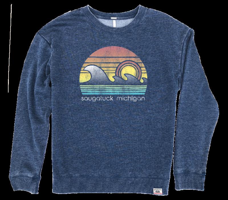 Saugatuck Wave Crew Sweatshirt