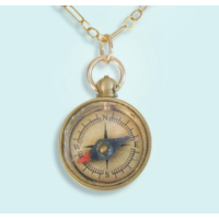 Ornamental Things Tiny Compass Necklace