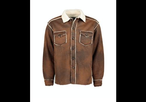 True Grit True Grit Vintage Bonded Leather Button Jacket