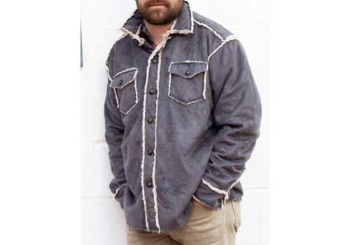 True Grit True Grit Vintage Washed Sherpa Button Jacket
