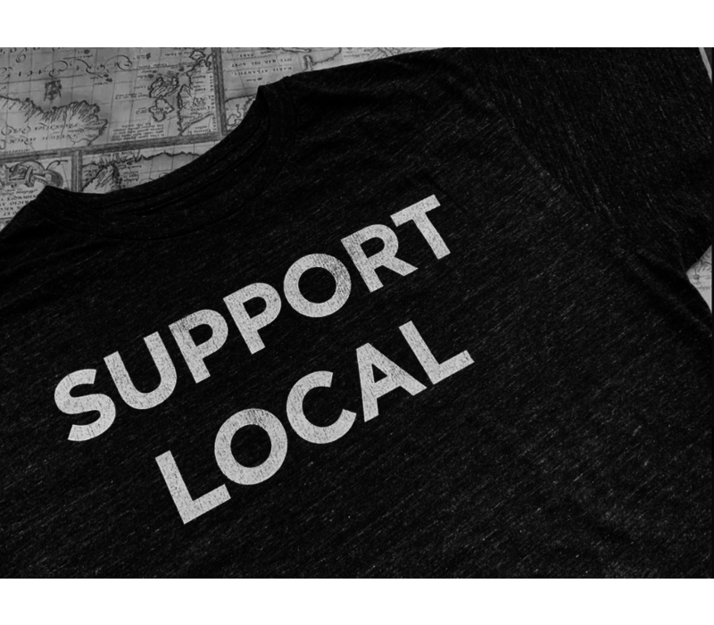 Retro Brand Support Local Textured Triblend Tee