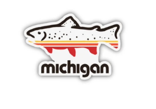 The Mitten State The Mitten State Fish Michigan Sticker