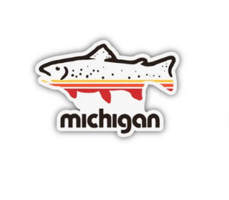 The Mitten State Fish Michigan Sticker