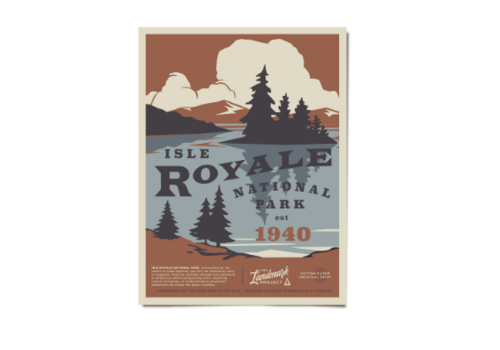 The Landmark Project The Landmark Project Isle Royale Poster 12x16