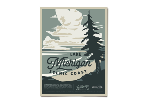 The Landmark Project The Landmark Project Lake Michigan Poster 12x16