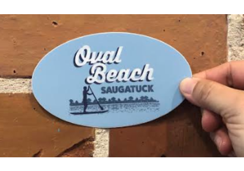 Sticker Mule Sticker Mule Oval Beach Sticker