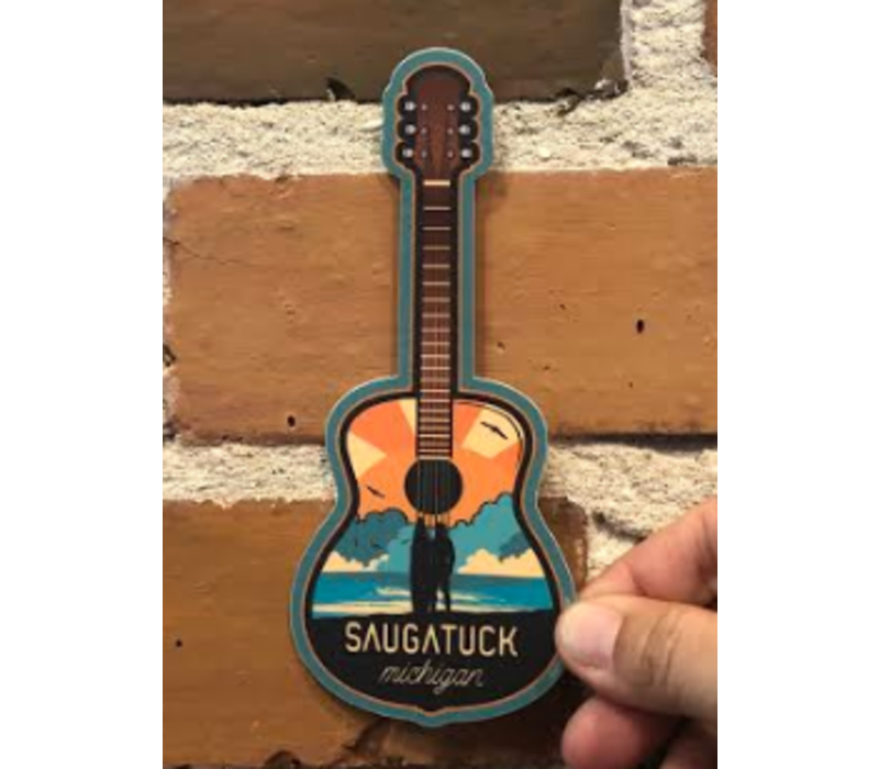 Steamboat Sticker Guitar Surfer