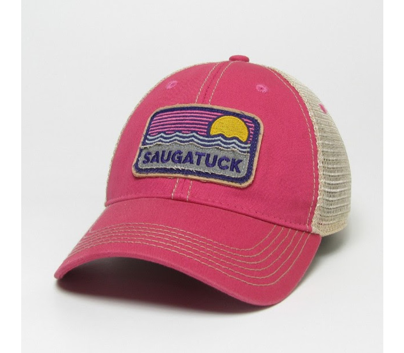 League Saugatuck Waves & Sun Trucker, Dark Pink