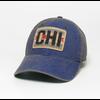 League League Trucker Hat with Chicago Flag Patch, Blue