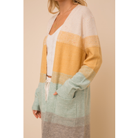Hem & Thread Color Block Cardigan