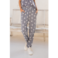 Hem & Thread Start Print Terry Pants