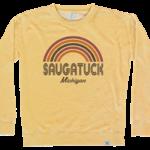 TechStyles Tech Styles W's Saugatuck Rainbow Supersoft Crew Sweatshirt