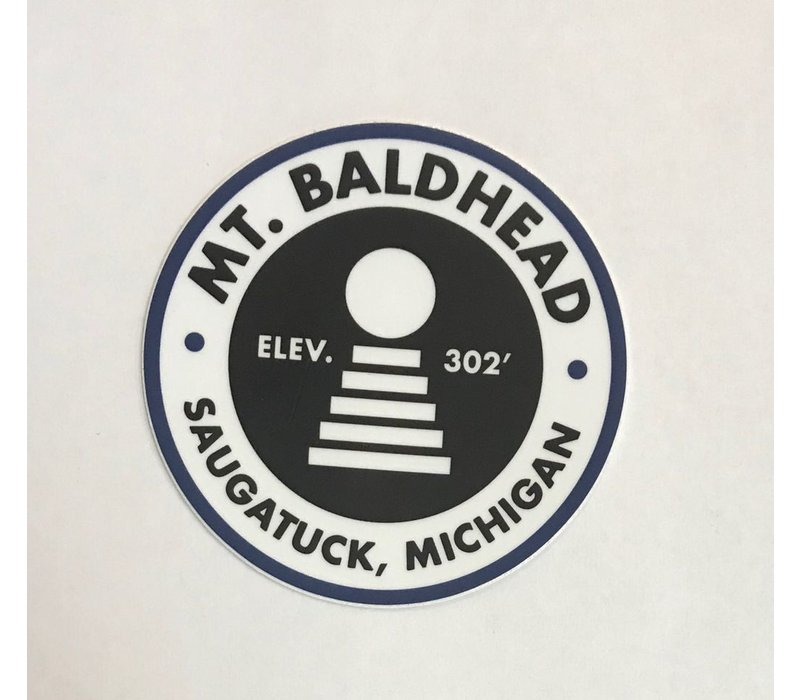 The best 300 steps in the nation. Slap this great sticker on your water bottle, car, laptop, or wherever else your heart desires. $1.50 from every Mt Baldhead sticker sale is donated to the U.S. National Park Service from our friends at the 1837 Sticker C