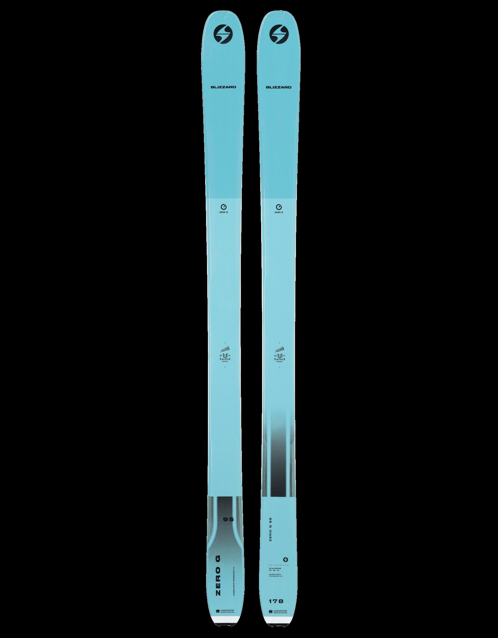Blizzard ZERO G 095 FLAT LIGHT BLUE 2022