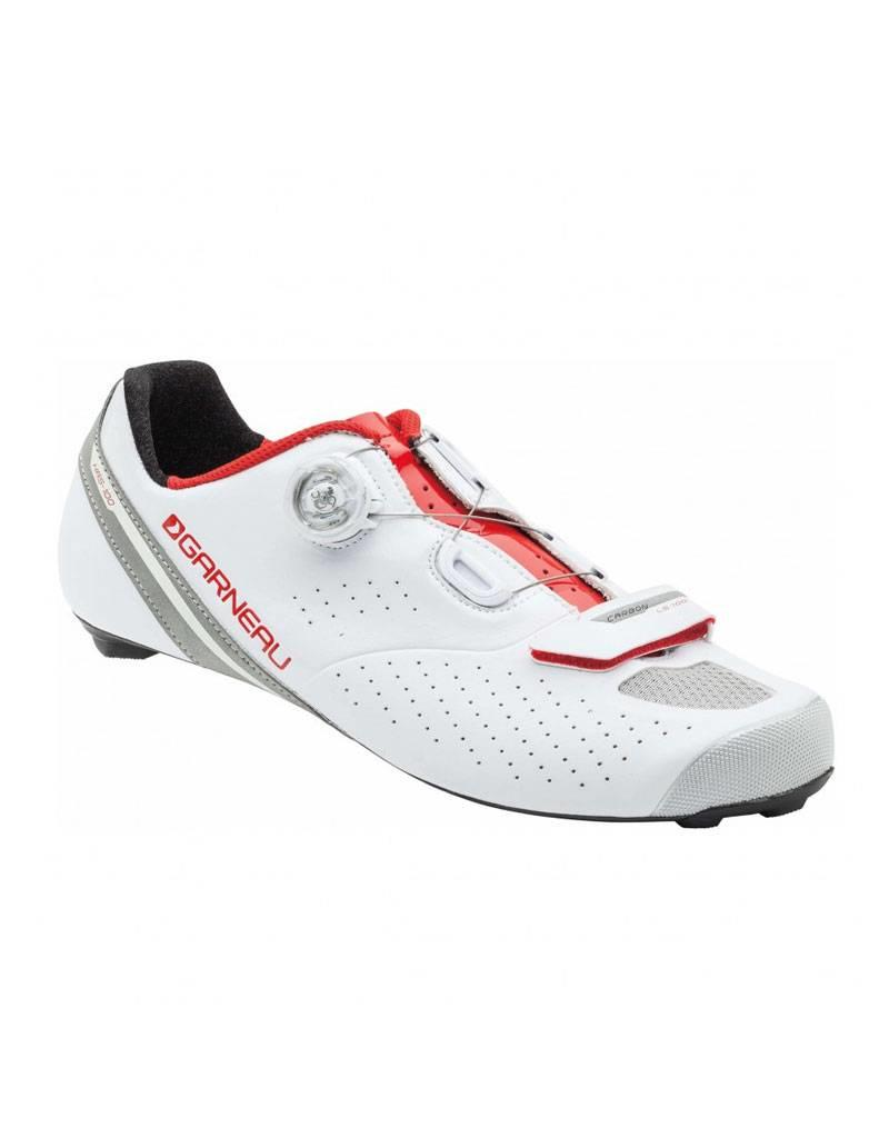 GARNEAU CARBON LS-100 II CYCLING SHOES BLANC/GINGEMBRE WHITE/GINGER 45