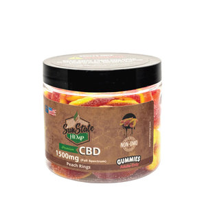 Sun State Hemp CBD Peach Rings 1500mg