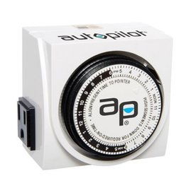 AutoPilot HYD Dual Outlet Analog Timer 15 amp 1875 watts