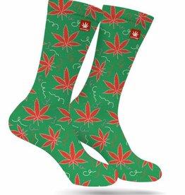 Stonerdays Kushmas Leaves Marijuana Socks - Medium