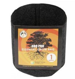 Gro Pro Gro Pro Essential Round Fabric Pot - Black 1 Gallon