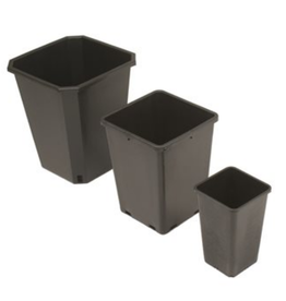 "2 Gallon / 8 L Square Pot 7.5""x7.5""x10""h"