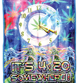 "It's 4:20 Somewhere Fleece Blanket - Medium Weight | 50""x60"""