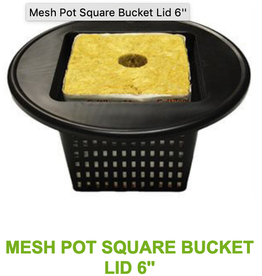 mesh Pot Square Bucket Lid 5""