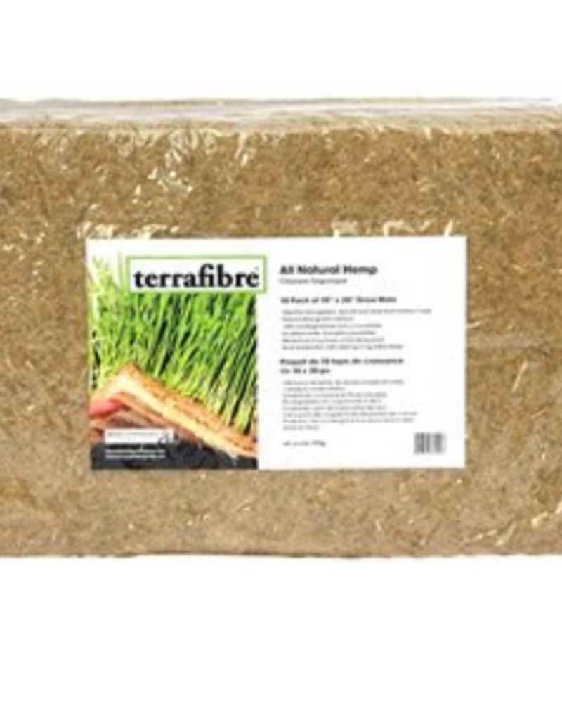 """TerraFibre 10"""" X 20"""" Hemp Fibre Grow Mat 10 / Pack 300G"""