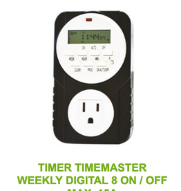 Energy Power Products Timer Timemaster Weekly Digital 8 ON / OFF Max. 15A