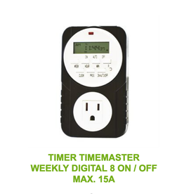 Timer Timemaster Weekly Digital 8 ON / OFF Max. 15A