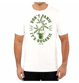 Stonerdays Men's Don't Panic Tee - White - Medium