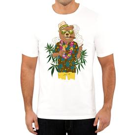 Stonerdays Men's Bear On Vacation Tee - White - Large
