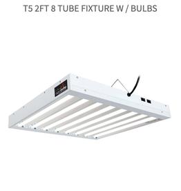 Hydrofarm T5 2Ft 8 Tube Fixture w / Bulbs