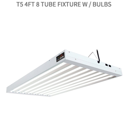 Hydrofarm T5 4Ft 8 Tube Fixture w / Bulbs