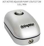 Active Aqua Hydroculture ACT Active Aqua Air Pump 1 Outlet 2W 3.2L / Min