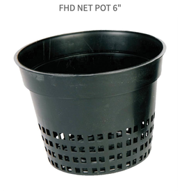 "Future Harvest FHD Net Pot 6"" With Tabs"