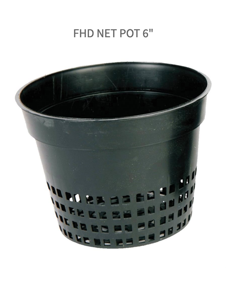 """Future Harvest FHD Net Pot 6"""" With Tabs"""