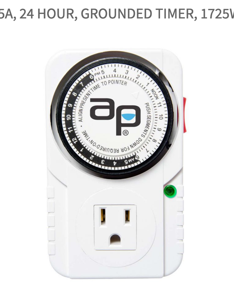 AutoPilot 15A, 24 Hour, Grounded Timer, 1725W