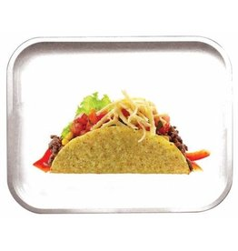 "Pulsar Pulsar 11"" x 7"" Metal Rolling Tray - Medium - Taco"