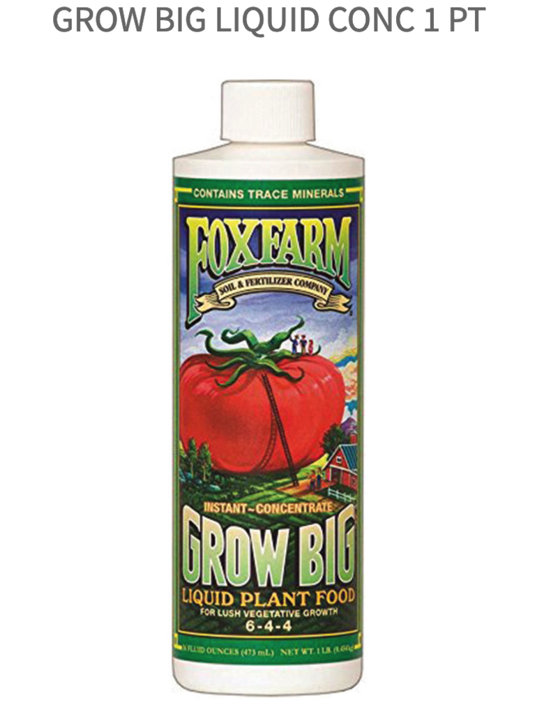 FoxFarm Grow Big Liquid Conc 1 Pt