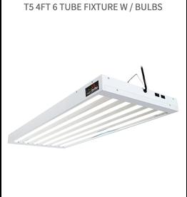 AgroBrite T5 4Ft 6 Tube Fixture w / Bulbs