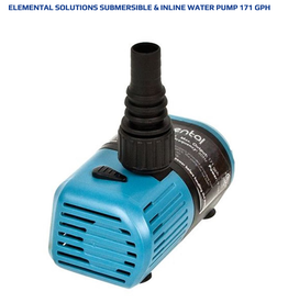 Elemental Solutions Submersible & Inline Water Pump 171 gph