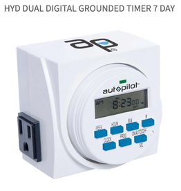 AutoPilot HYD Dual Digital Grounded Timer 7 Day