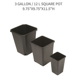 "Future Harvest 3 Gallon / 12 L Square Pot 9.75""x9.75""x11.5""h"