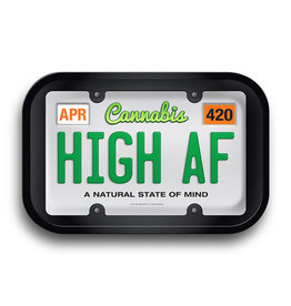 """Cannabis License Plate Rolling Tray - 11.25""""x7.25"""""""