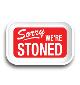 """Sorry We're Stoned Rolling Tray - 11.25""""x7.25"""""""