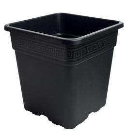 Gro Pro Gro Pro Black Square Pot 1 Gallon